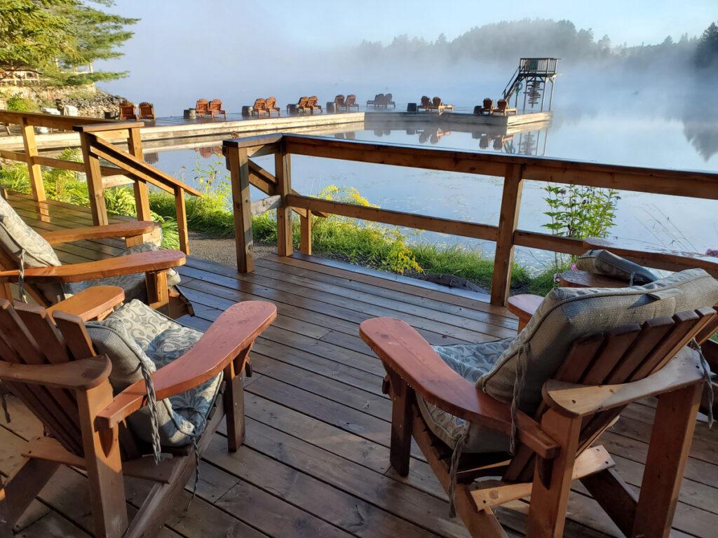 Mist on Little Joe Lake